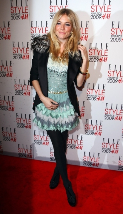 Sienna at the Elle Style Awards in London