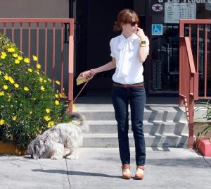 Rachel Bilson and her dog
