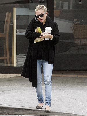 Ashley Olsen with her favorite ballet flats