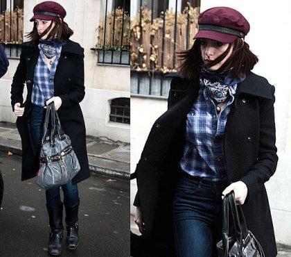 Anne Hathaway wearing Frye boots