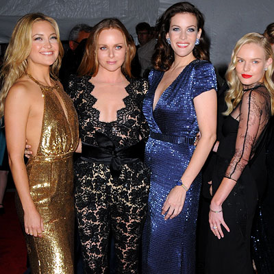 Kate Hudson, Stella McCartney, Liv Tyler and Kate Bosworth (all of these dresses are just beautiful. Props to Stella she designed them all!) I especially love both Kates' dresses. She captured their essences so well!