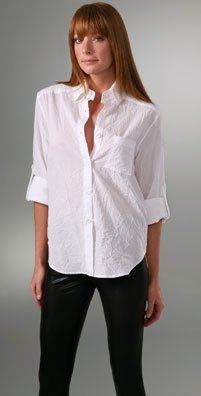 Alice and Olivia white pocketed button down (every girl needs a white button down)