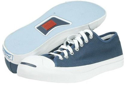 blue Jack Purcell Converse sneakers (a classic--also come in white and black)