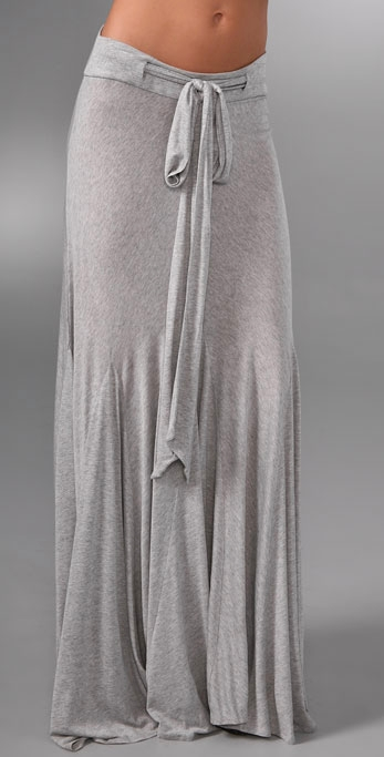 grey long skirt--looks so comfortable!