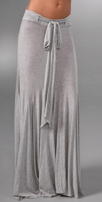grey long skirt--looks so comfortable!