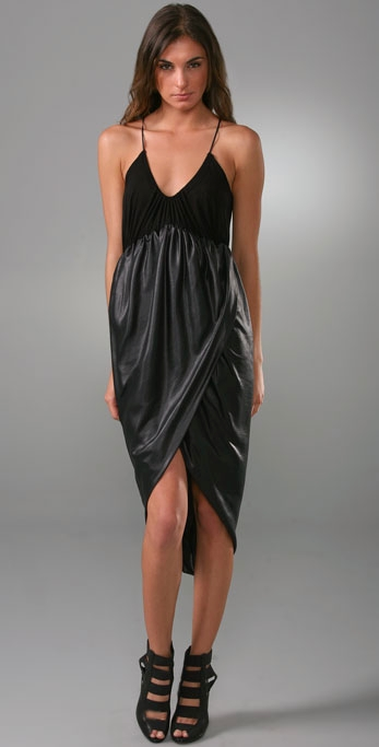 black halter dress (love the bottom especially with the shoes)
