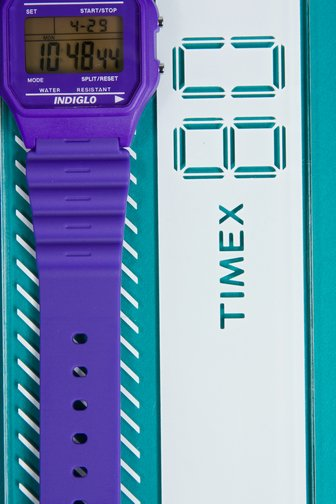 Purple Haze timex ( i need a new watch--what better than an eye-popping color?)