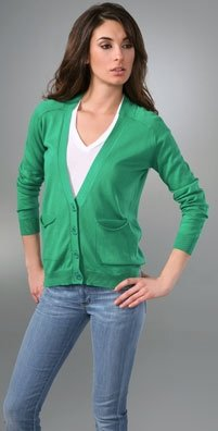 Kelly Green See by Chloe oversized cardigan
