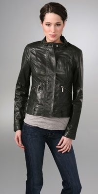 Vince leather jacket (motorcycle-esque)