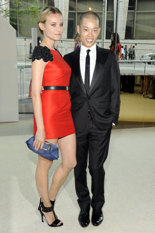 Diane Kruger (in Jason Wu) and Jason Wu