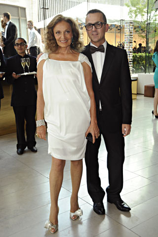 Diane von Furstenberg (she's seriously amazing, look at pictures of her when she is younger--stunning!) and Steven Kolb (both on CFDA)