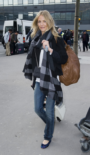 Cameron Diaz at Heathrow