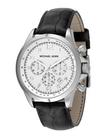 Michael Kors Crocodile embossed Strap Watch
