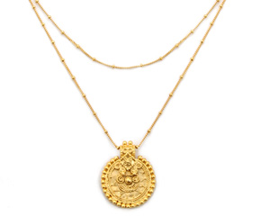 Gold Medala Pendant necklace