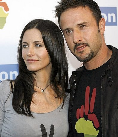 Courtney Cox with David Arquette wearing Satya jewelry