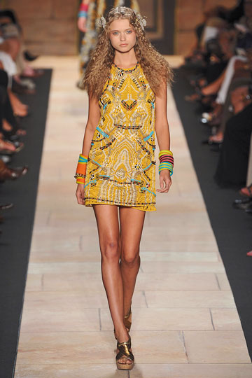 walking for Diane von Furstenberg