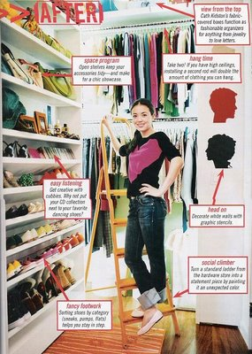 This closet! shown in Teen Vogue years ago! My closet has a lonng way to go....