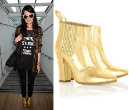 Famous gold boots