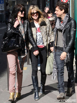 With Jamie Hince and Kate Moss