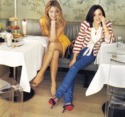 VIntage Leighton Meester and Blake Lively